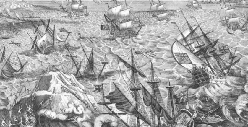 Great_Storm_1703_Goodwin_Sands_engraving
