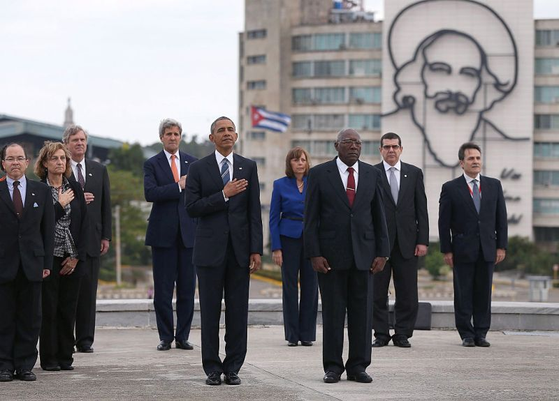 President Obama Lays Wreath At Jose Marti Memorial
