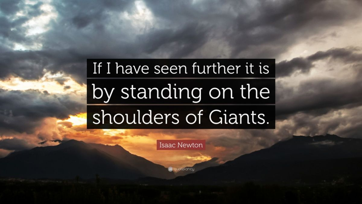 August 12, 1865 The Shoulders ofGiants